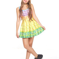 Girls Candy Crush Falling Candy Skater Dress