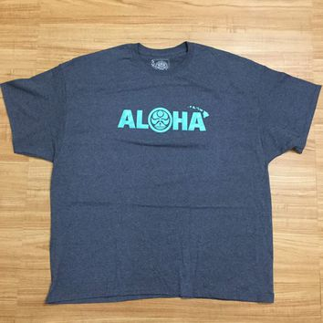 "HIC ""Aloha Chain"" Mens Heather Blue T-Shirt"