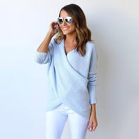 Women's Fall Fashion V-neck Winter Sweater [9068279364]