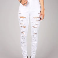 Slasher High Waist Skinnys - High Waist Denim at Pinkice.com