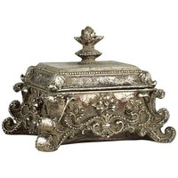 Ara Antique Silver Decorative Jewelry Box - #V8117 | LampsPlus.com