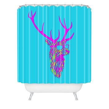 Robert Farkas Party Deer Shower Curtain