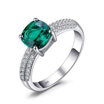 Jewelry Palace Cushion Solitaire Engagement Ring 925 Sterling Silver