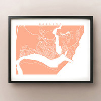 Ballina Map - More Sizes and Colors Available - New South Wales, Australia - Cape Byron