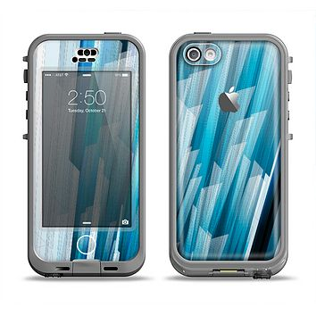 The Layered Blue HD Strips Apple iPhone 5c LifeProof Nuud Case Skin Set