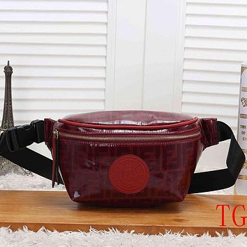 FENDI Fashion Leather Waist Bag Crossbody Single Shoulder Bag Satchel