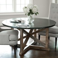 Regina Andrew Round Zinc Dining Table