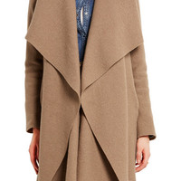 Harris Wharf London - Shawl-collar wool coat