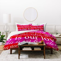 Sophia Buddenhagen This Is Our Love Story Duvet Cover