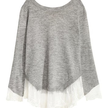 H&M Lace-trimmed Sweater $39.99