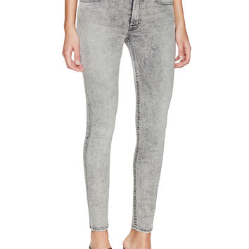 7 for All Mankind Women's Mid-Rise Ankle Skinny Jean - Grey -