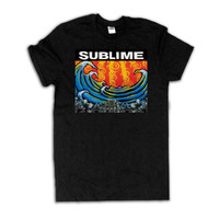 Sublime Black Unisex T-Shirt Black Punk Band Tee Shirt