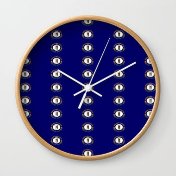 flag of kentucky 2-flag of kentucky,kentucky,america,us,Bluegrass State,Kentuckian Wall Clock by oldking