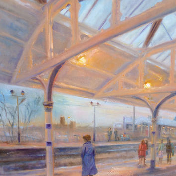 There's No Place Like Home - Durham Train Station print