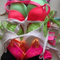 Victoria's Secret swimsuit swim bikini top Gorgeous push up halter all colors