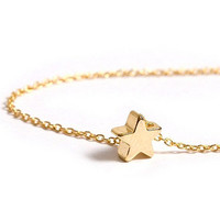Mini Star Bracelet / Tiny Gold Star Bracelet / Dainty Minimalistic Jewelry / Everyday Jewelry / Astronomy / B408