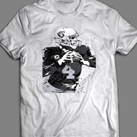 OAKLAND RAIDER'S DEREK CARR SPLASH ART T-SHIRT