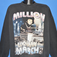 90s Million Woman March Philadelphia Sweatshirt Extra Large