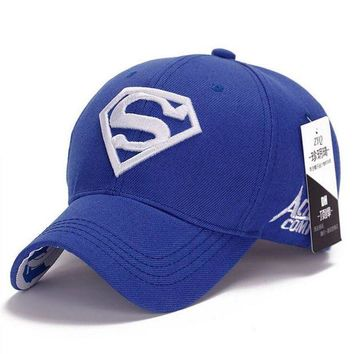 LMFON NEW Brand SUPERMAN Polo Snapback Mens Golf Baseball Caps Women Fitted Adjustable Hat G