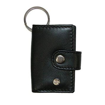 CTM Leather Scan Card Key Chain Wallet