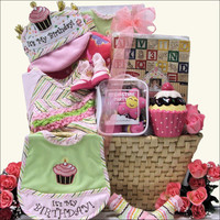 Baby's 1st Birthday Basket -Girl