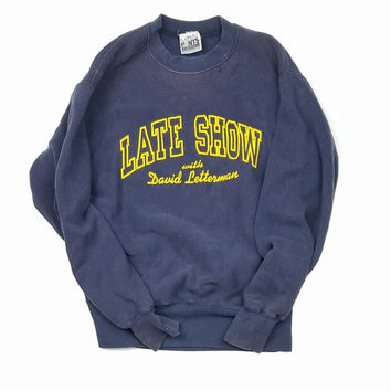 "The Late Show ""David Letterman"" Sweatshirt Size Large"