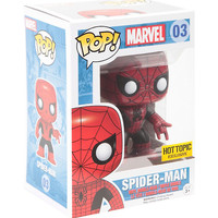Funko Marvel Pop! Spider-Man (Red & Black Suit) Vinyl Bobble-Head Hot Topic Exclusive