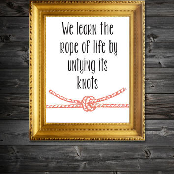 Instant Download Printable Knots Of LIfe QuoteWall Decor