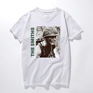 0a7501a94b3898 The Smiths T Shirt Top English Rock Band Meat Is Murder 1985 Mor