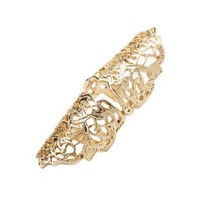 Filigree Hinged Armor Ring by Charlotte Russe - Gold