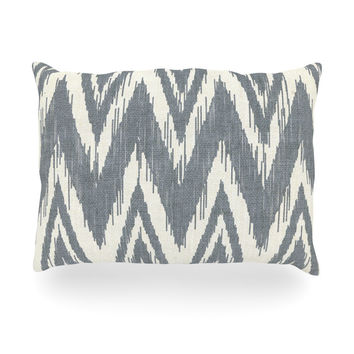 "Heidi Jennings ""Tribal Chevron Gray"" Oblong Pillow"