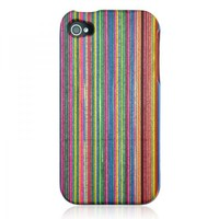 Eco-friendly Rainbow Color Wooden Case for iPhone 4 / 4S