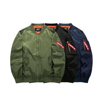 Sponge mice Spring Ma1 Pilot Bomber Jacket Thin Military Army Flying Jacket Cool Flight Men Jacket Clothing