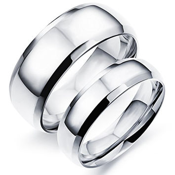 Unconditional Eerlasting love Pure Silver Matching Couple Rings Set
