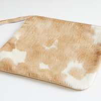 SPOTTED PALOMINO CLUTCH by primecut for Of a Kind