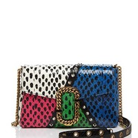 MARC JACOBSSt. Marc Snake-Embossed Leather Clutch