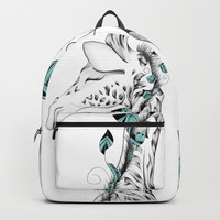 Poetic Giraffe Backpack by loujah