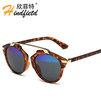 2016 Fashion Design Tow Color Sunglasses Cat Eye Vintage Brand Women Sun Glasses Polarized Sunglasses Summer HD Polaroid Lens