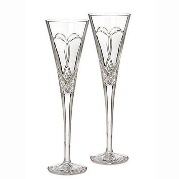 Waterford Crystal Times Square 2011 Champagne Flute(s) Pair