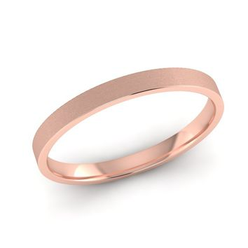 Rose Gold Womens Wedding Ring, 2.00mm Wide