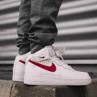 """Nike Air Force 1 Mid"" Men Sport Casual Fashion High Help Plate Shoes Sneakers"