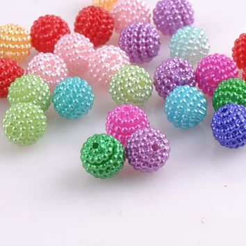200pcs about 10mm Blend Color Imitation Pearl Beads Round Beads Fit Europe Beads Jewelry making YKL0393