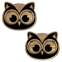 Glitter Baby Owl Pasties (Gold)