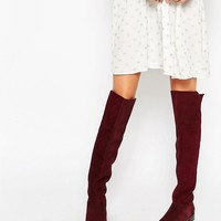 ASOS KIMBER Leather Stud Over The Knee Boots
