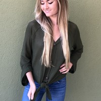 Show Me Off Sweater- Olive