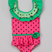 Fuchsia Sweet Watermelon One-Piece - Toddler