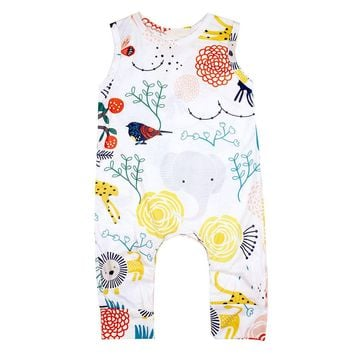 Cute Toddler Kid Baby Boy Girl Animal & Plant Clothes Jumpsuit Romper Outfit BM88