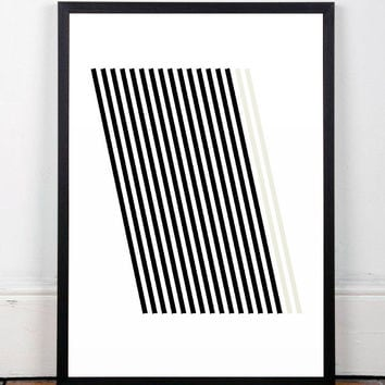 Geometric art print, Lines art, Abstract poster, Wall print, Wall art, Art, A4, Minimalism poster, Prints, Art prints, Printed art, Poster