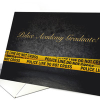 Announcement of Police Academy Graduation card