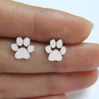 New Fashion Cute Paw Print Earrings for Women Cat and Dog Paw Stud Earrings ED124